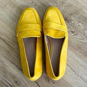 Zara Trafaluc Mustard Flat Loafers